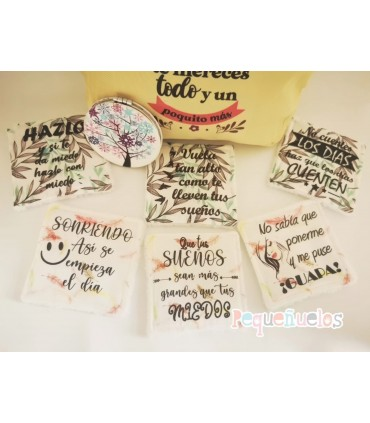 Pack desmaquillante Frases